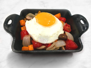 Oven Roasted Vegetable Hash with Farm Egg