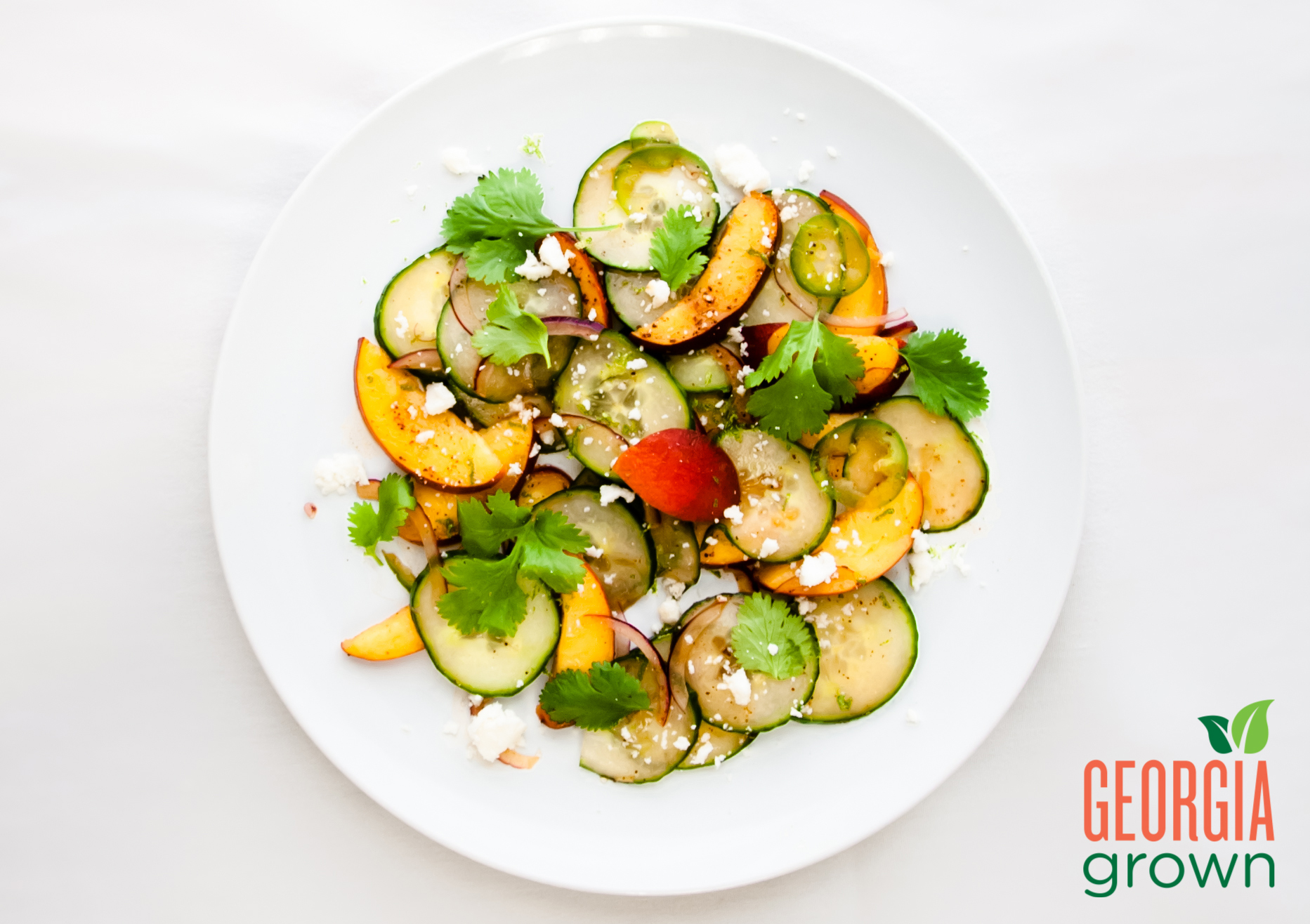 Georgia Peach & Cucumber Salad