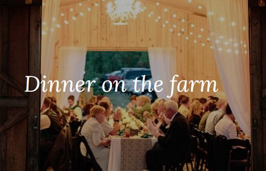 Fall Dinner on the Farm